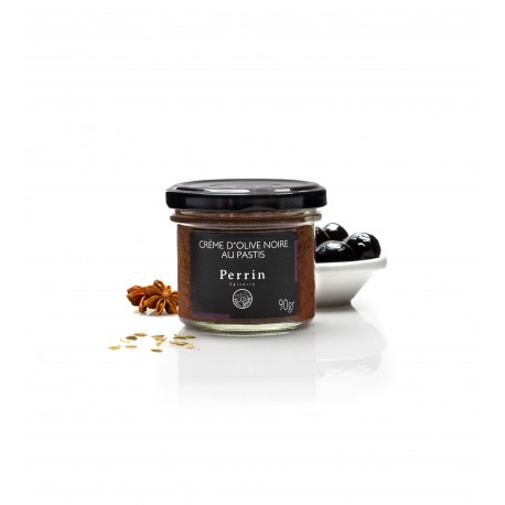 pastis and black olive spread