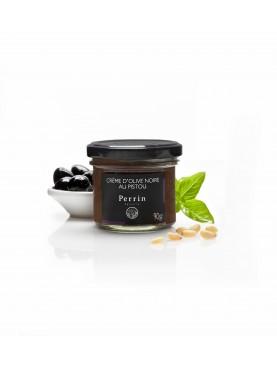 Crème d'olive noire au pistou