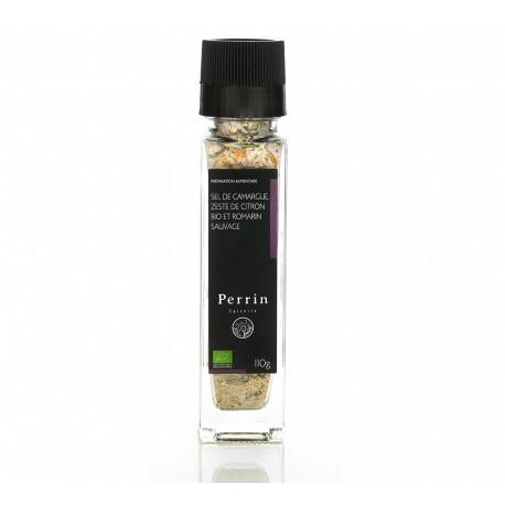 Camargue salt, organic lemon zest, and wild rosemary 110g