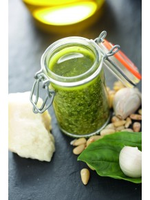 Pistou sauce (basil, garlic and olive oil sauce)