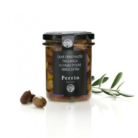 """Olive dénoyautée """"Taggiasca"""" dans l'huile d'olive- 180g"""