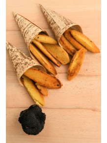 Black truffle panisses- truffled chickpea pancake - 2pc tray